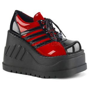 """Shoes - 4 3/4"""" Wedge Red Platform Lace-Up Oxford Shoes"""